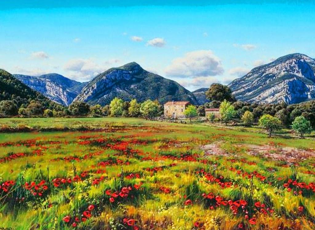 cuadros-al-oleo-de-paisajes-rurales-espanoles
