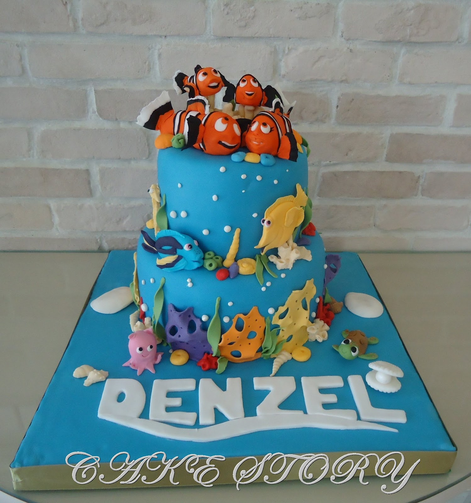 Nemo Cake: Cake Story: FINDING NEMO BIRTHDAY CAKE