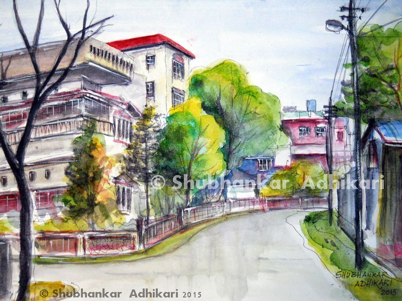 Very recent painting by Shubhankar Adhikari