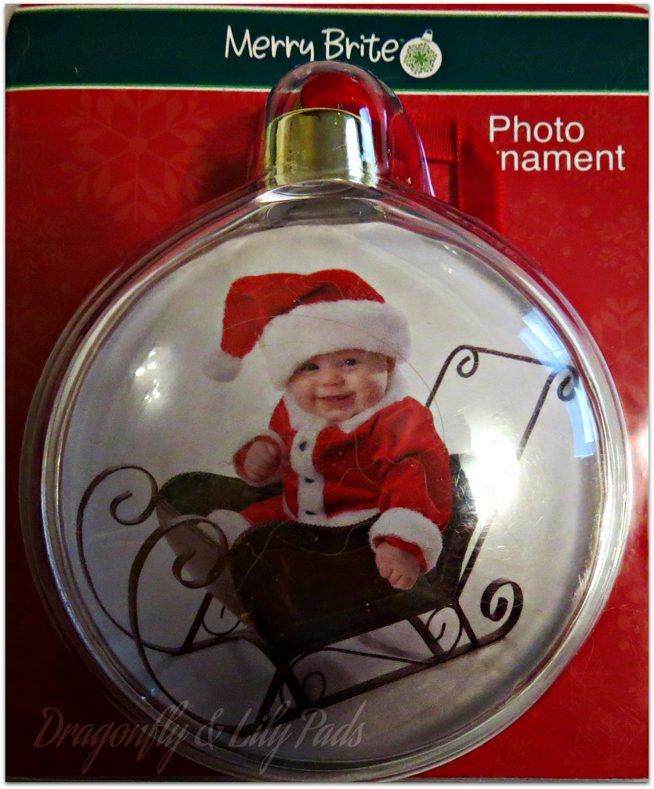 Merry Brite Photo Ornament, D&LP Designs, Elf Gift Exchange bonds Bloggers