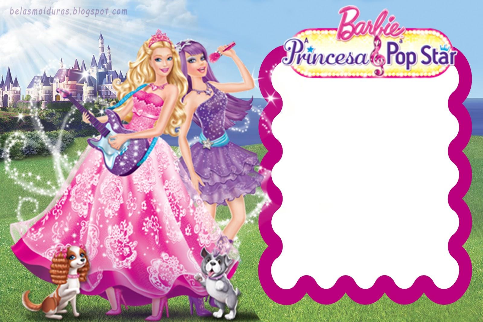 Molduras Do Filme Barbie E A PopStar