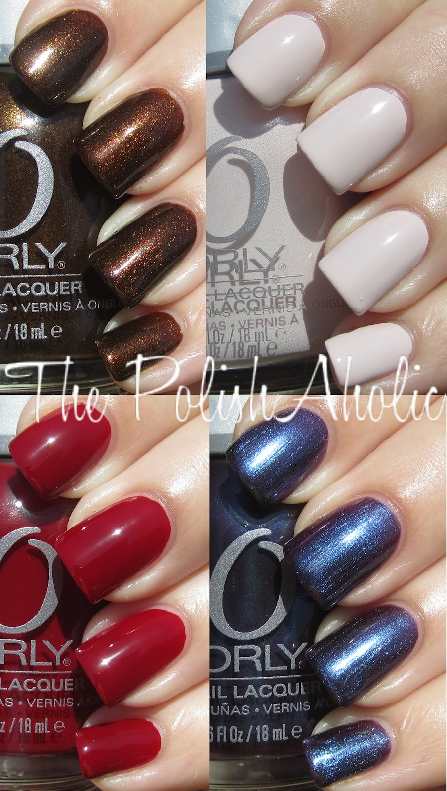 The PolishAholic: Orly Dark Shadows Collection Swatches!