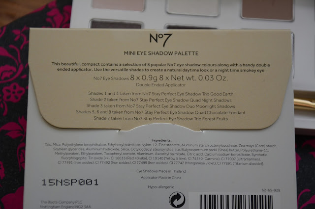 No7 Mini Eye Shadow Palette review