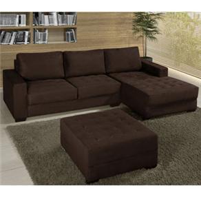 Escrevendo assim decora o sala sof novo parte 2 for Sofas com chaise e puff