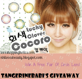 Circle lenses giveaway at Tangerinebabi