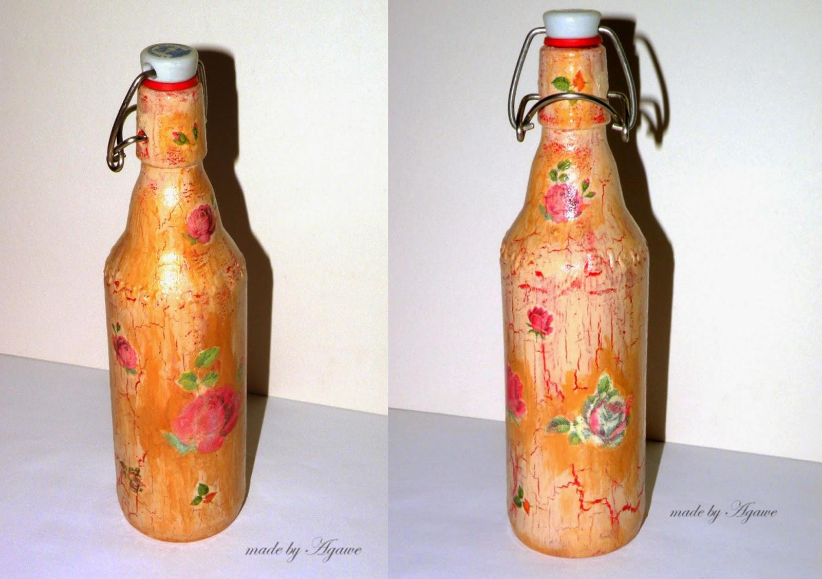 Decoupage – butelka