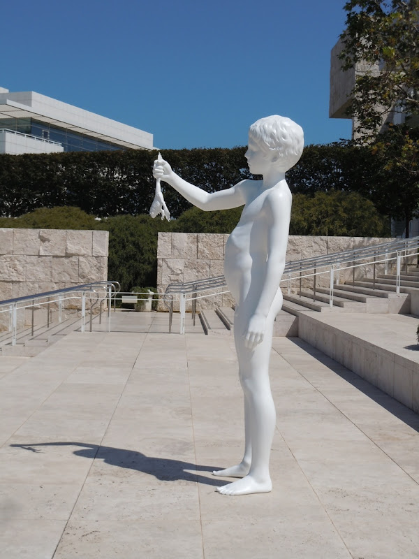 Boy with Frog sculpture The Getty
