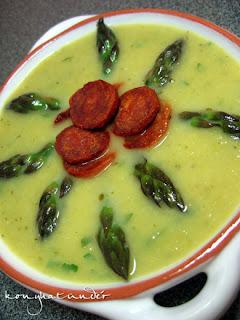 creamy-asparagus-with-chorizo