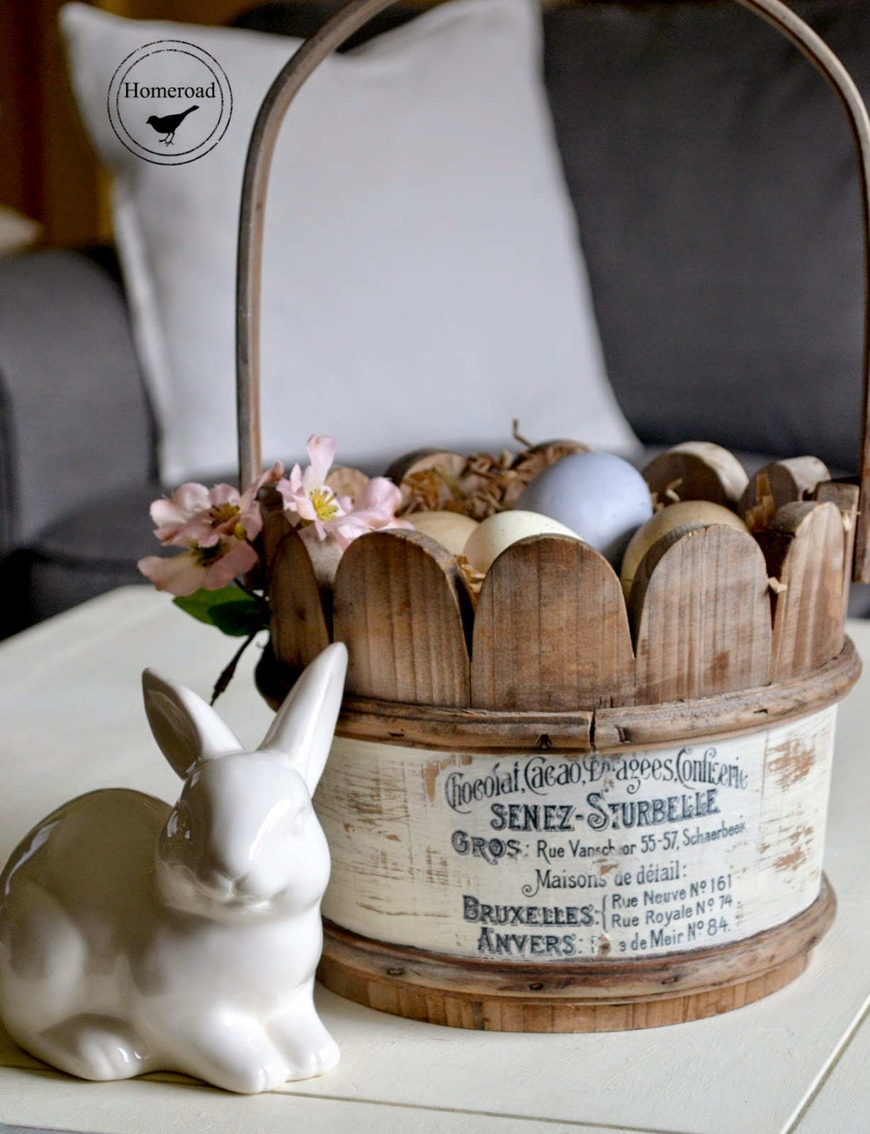 Wooden Easter Basket and a Transfer www.homeroad.net