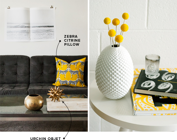 DwellStudio Lion Ink Pillow Zebra Citrine Urchin Objet Diamond Cut Egg Vase MStetson Design Blog