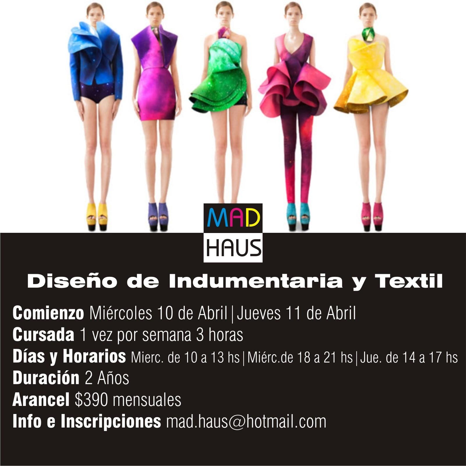 Carrera de Diseño de Indumentaria y Textil   La Plata   MADHAUS