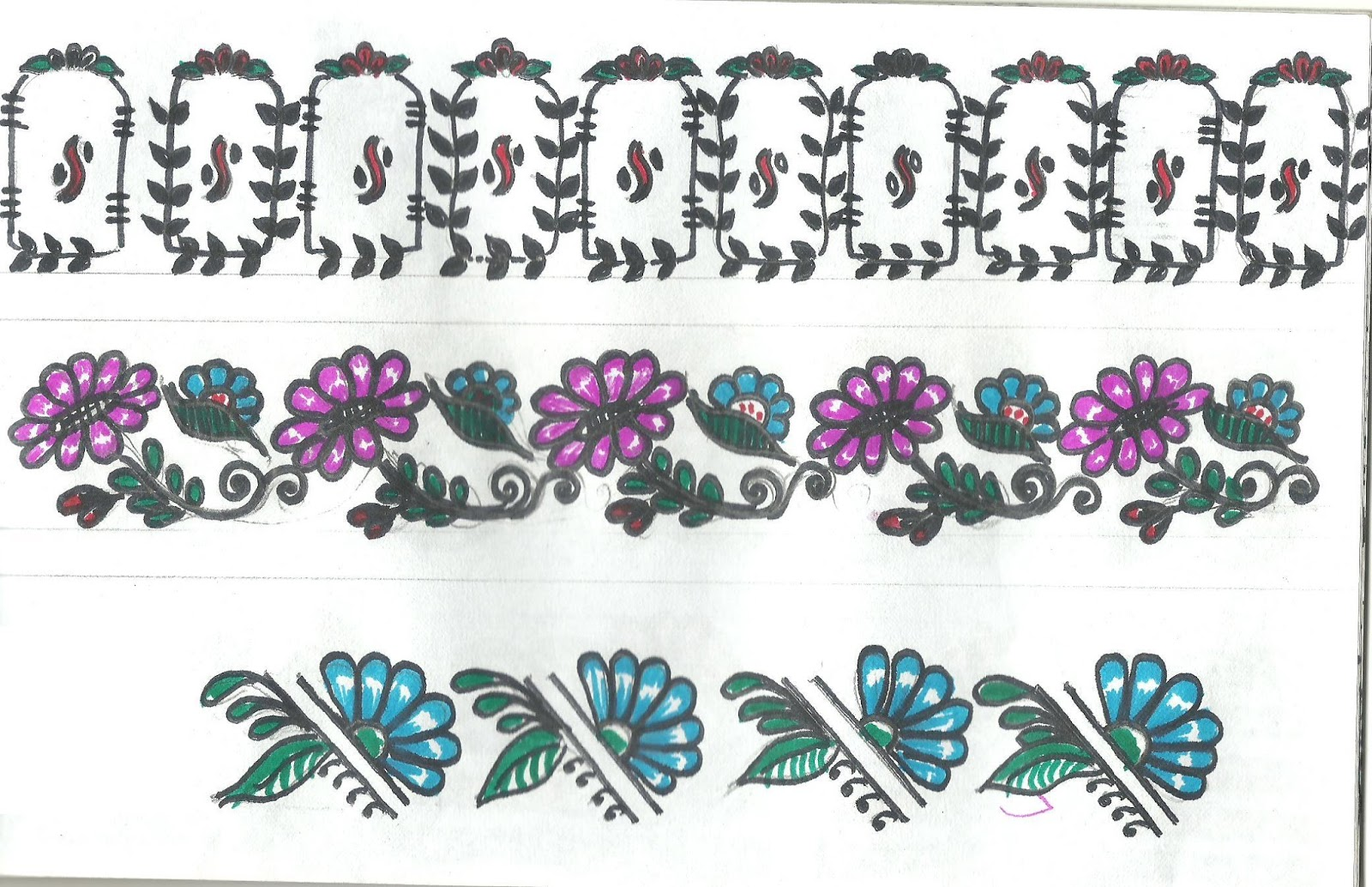 Art N Craft: Beautiful Border Designs