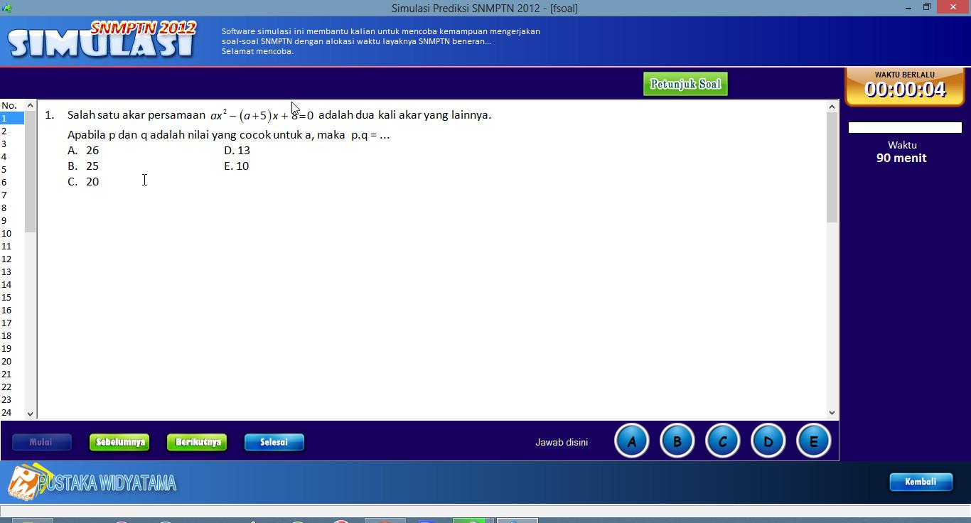 Software Simulasi Soal Soal Sbmptn Snmptn