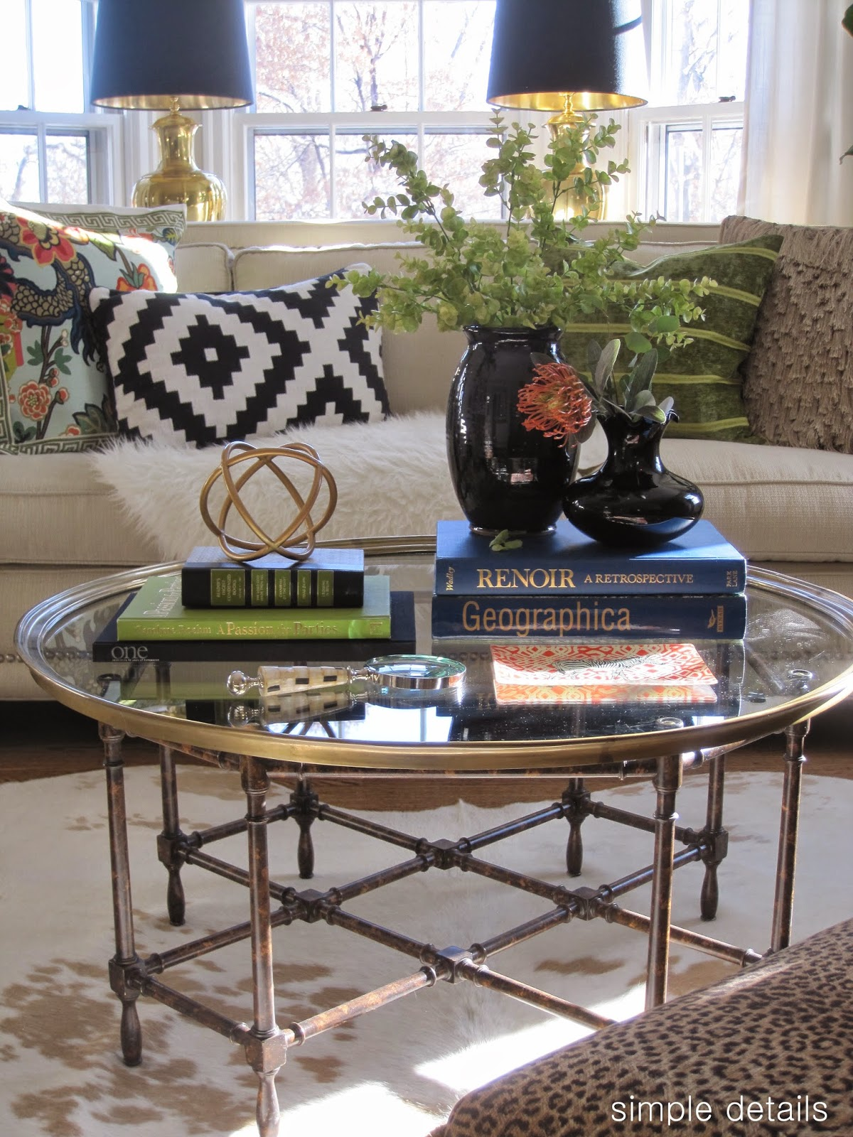 Simple details coffee table reveal and styling tips Coffee table accessories
