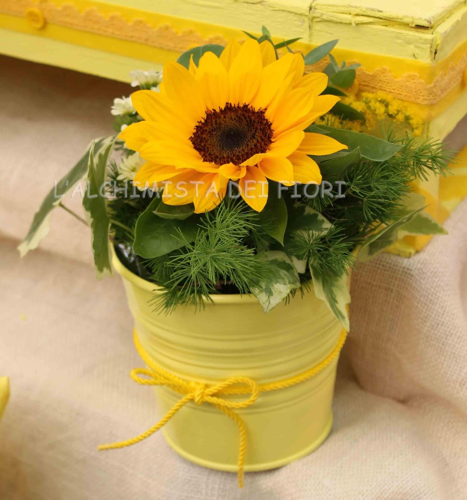 Centrotavola Matrimonio Con Girasoli : L alchimista dei fiori giugno