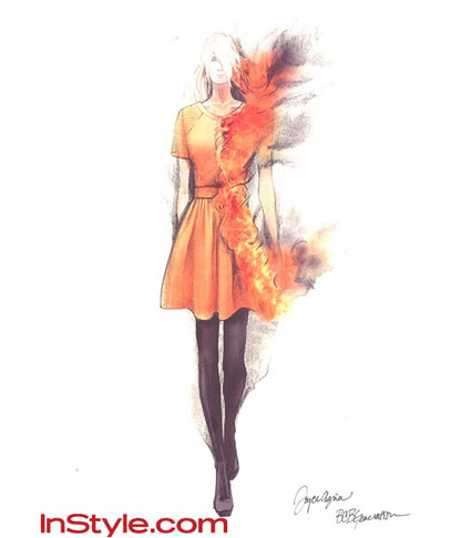 Katniss Everdeen Drawings By Famous Fashion Designers