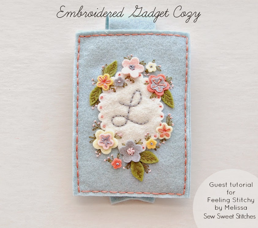Embroidered Gadget Cozy Tutorial