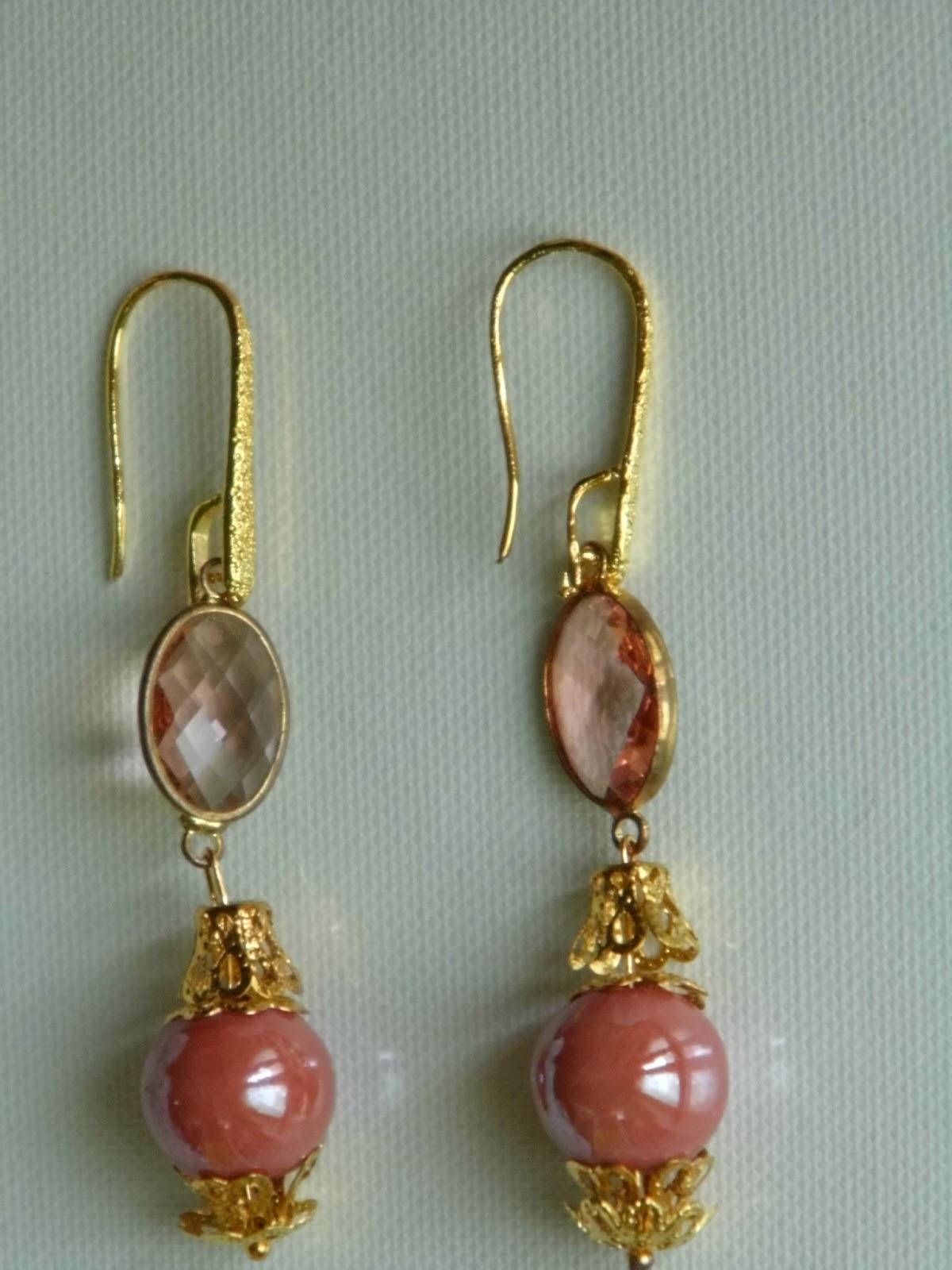 Ben noto Marina Creazioni.home&handmade: Orecchini con pietre e perle OR87