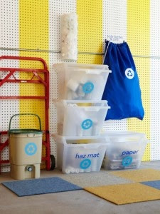 diy recycling organization