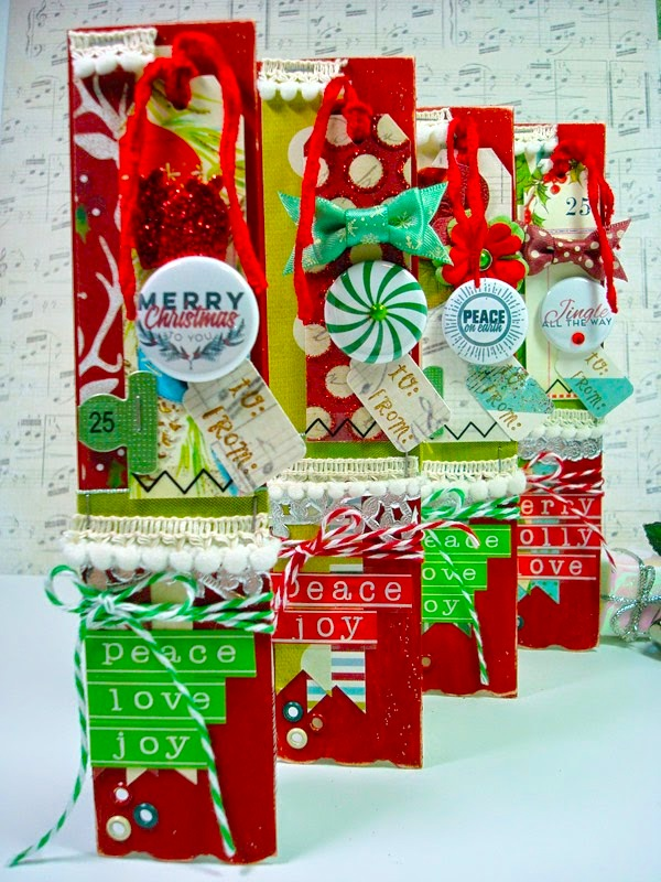 SRM Stickers Blog - Bossy Joscie Gift Tags by Cassonda - #flair #bossyjoscie #numbers #stickers #doilies #tags #twine
