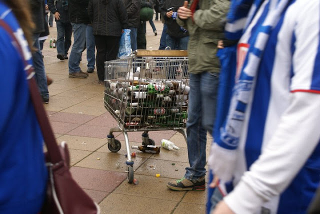 Bottle Collection at Berlin Football