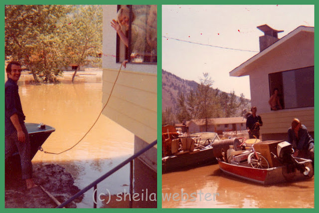 We are loading boats with our household goods after the house was flooded in Oak Hills flood of 1972