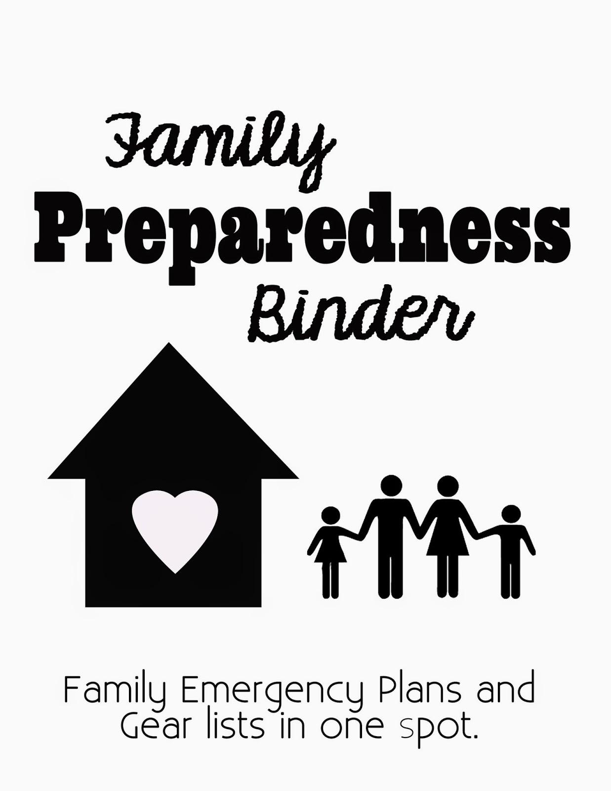 Family Preparedness Binder Information