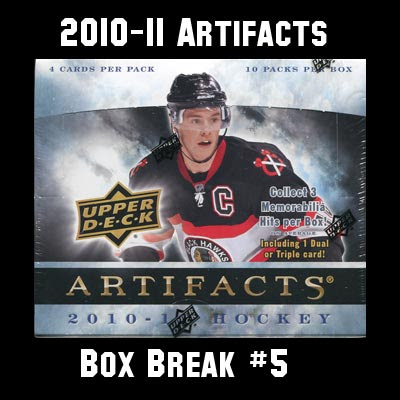 2010-11 Artifacts Box Break #5