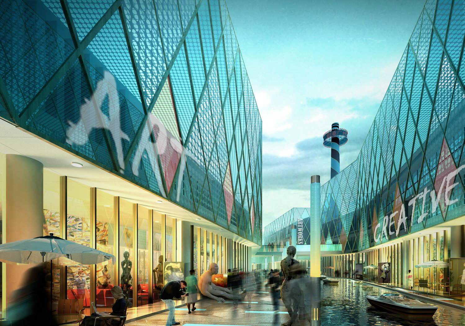 3d architecture 3d building and shops night view tweet this bookmark ...
