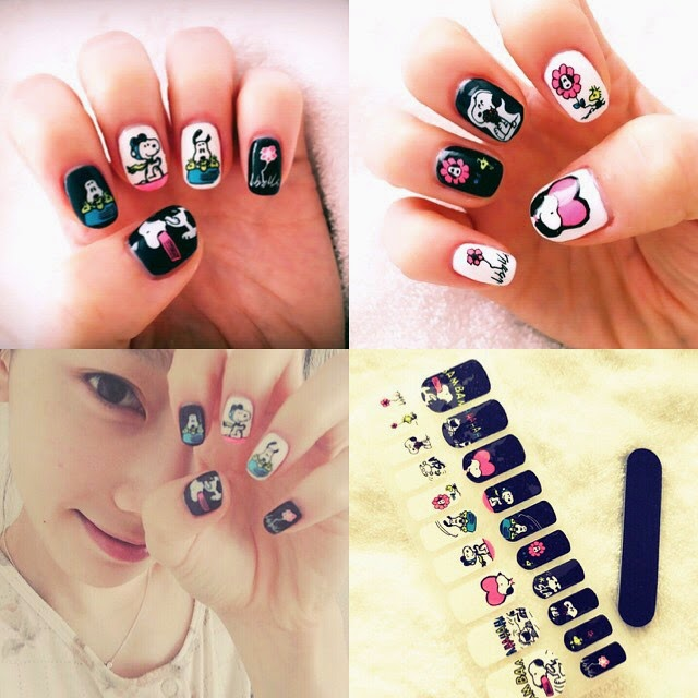 Snsd taeyeon reveals her new nail art in her latest pictures snsd taeyeon reveals her new nail art in her latest pictures prinsesfo Image collections