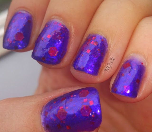 Indie polish purple red large glitters