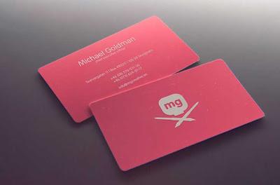 tarjetas personales color rosado