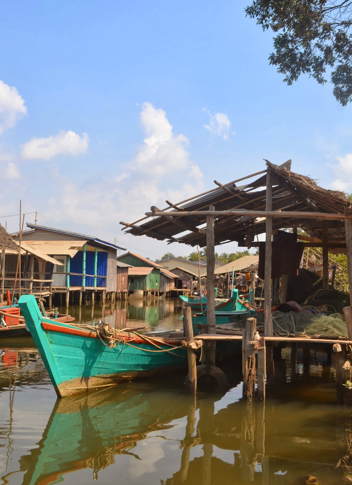 kampot fishing village cambodia