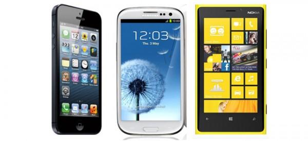Perbandingan Antara Iphone 5 vs Galaxy S III vs Lumia 920