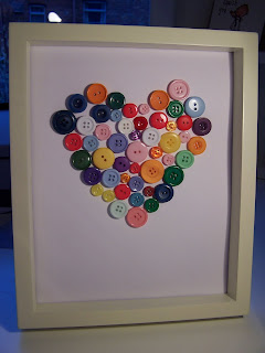 Button Heart Picture Craft