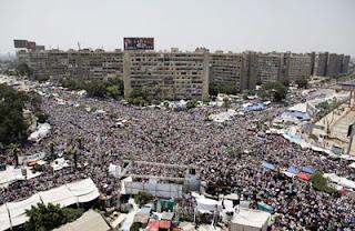 فض اعتصام رابعة العدوية الان