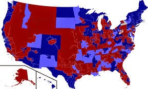 map of red and blue states