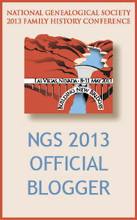official blogger, NGS, 2013, genealogy, family history, Las Vegas