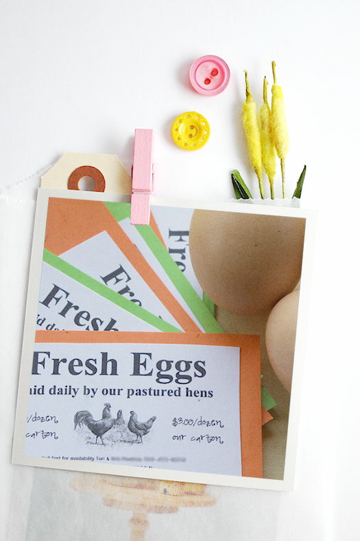 Fresh eggs business card montage 2 by Tori Beveridge AHWT