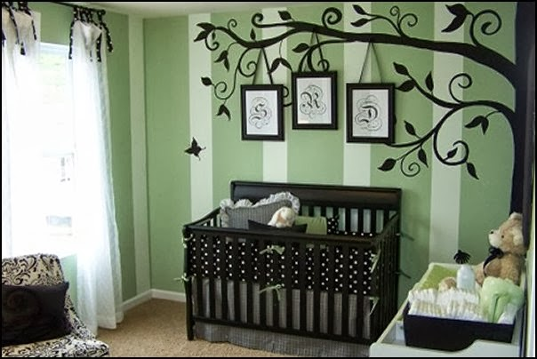Decorating theme bedrooms maries manor baby bedrooms for Baby room mural ideas