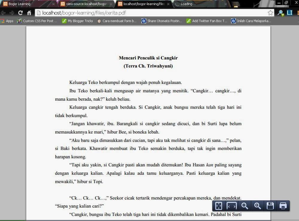 ebook .pdf di halaman web penuh