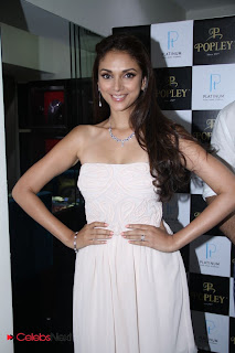 Aditi Rao Hydari Pictures in Shoulderless Short Dress at Popley Jewellery Launch  0001
