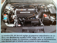 motor honda accord EXL
