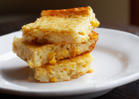 Make-Over Corn Casserole | Skinnytaste