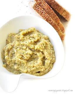 eggplant dip bread Melitzanosalata