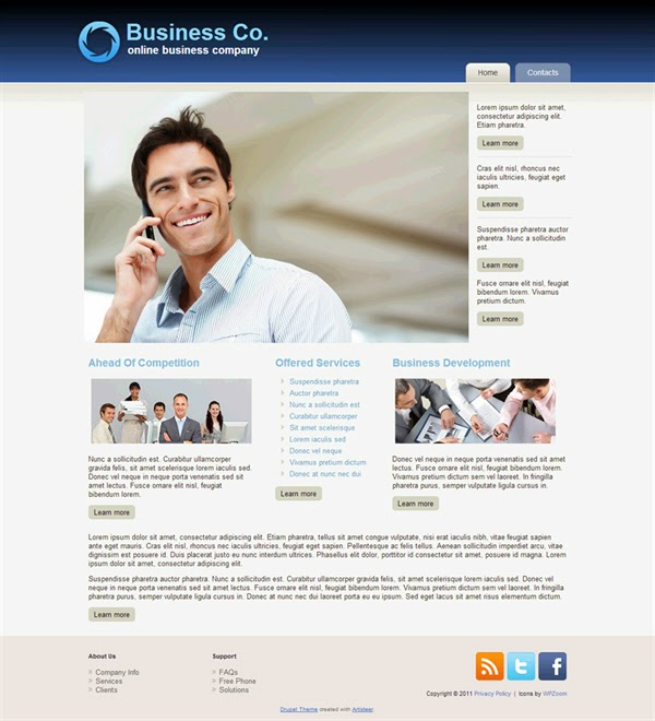 Business Co. - Free Drupal Theme