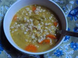red lentil-vegetable soup with barley