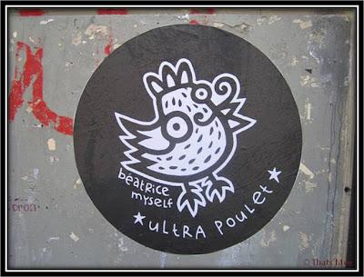 Street Art Béatrice Myself, Ultra Poulet