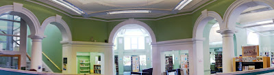 Hove Library, UK - central space