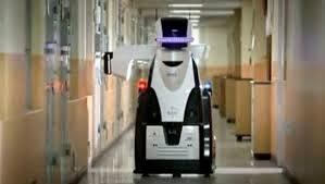 ROBOTS DIE DOOR MUREN KIJKEN